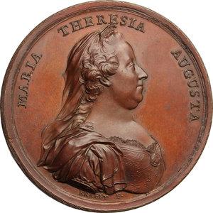 obverse: Maria Teresa d Asburgo (1740-1780), arciduchessa d Austria.. Medaglia 1770 per la promulgazione del nuovo regolamento Doganale