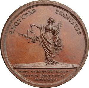 reverse: Maria Teresa d Asburgo (1740-1780), arciduchessa d Austria.. Medaglia 1770 per la promulgazione del nuovo regolamento Doganale