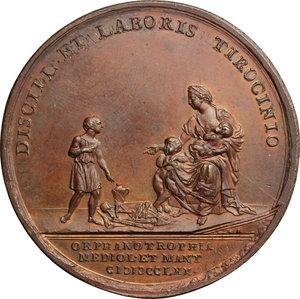 Maria Teresa d Asburgo (1740-1780), arciduchessa d Austria.. Medaglia 1770 per l'istituzione degli Orfanotrofi di Milano e Mantova
