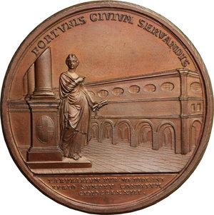 reverse: Maria Teresa d Asburgo (1740-1780), arciduchessa d Austria.. Medaglia 1773 per l erezione dell archivio notarile di Milano