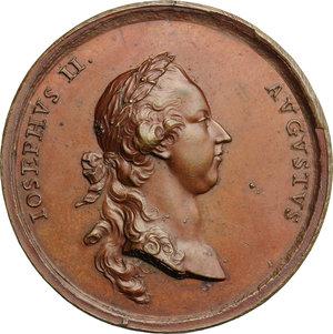 obverse: Giuseppe II (1765-1790), imperatore del Sacro Romano Impero.. Medaglia 1770 per il commercio in Lombardia