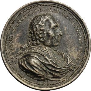 obverse: Eustachio Zanotti (1709-1782), astronomo e ingegnere bolognese.. Medaglia