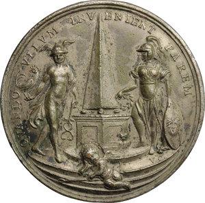 reverse: Eustachio Zanotti (1709-1782), astronomo e ingegnere bolognese.. Medaglia
