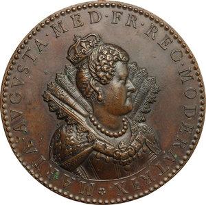 obverse: Maria de  Medici (1573-1642), Regina di Francia. . Medaglia (fine XVIII sec.) per l insediamento della Reggenza, 1613