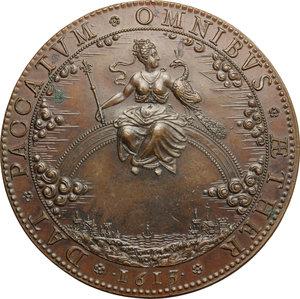 reverse: Maria de  Medici (1573-1642), Regina di Francia. . Medaglia (fine XVIII sec.) per l insediamento della Reggenza, 1613