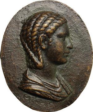 obverse: Iulia Paula, prima moglie di Elagabalo (218-222) (?). . Placchetta unifacie,  XVIII-XIX sec