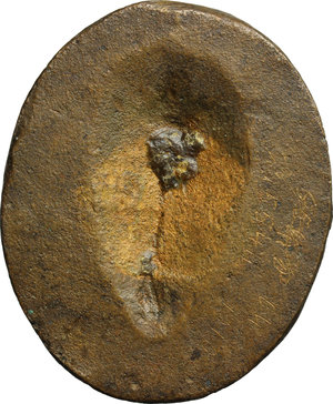reverse: Iulia Paula, prima moglie di Elagabalo (218-222) (?). . Placchetta unifacie,  XVIII-XIX sec