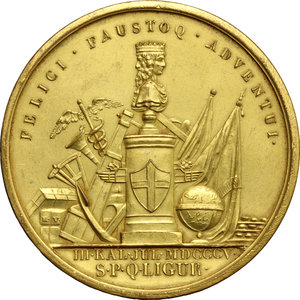 obverse: Repubblica Ligure (1798-1805).. Placchetta unifacie 1805