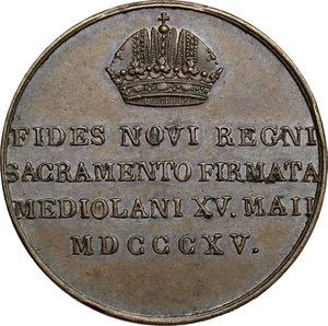 reverse: Francesco I d Asburgo e Lorena (1815-1835). Medaglia 1815 per il Giuramento delle Province Lombarde