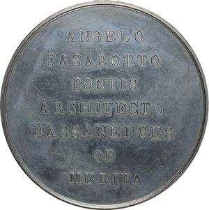 reverse: Medaglia 1821 per la ricostruzione dell antico Ponte in legno sul Fiume Brenta, andato distrutto nell incendio del 1813, realizzata dall Architetto Angelo Casarotto, sui disegni di Andrea Palladio
