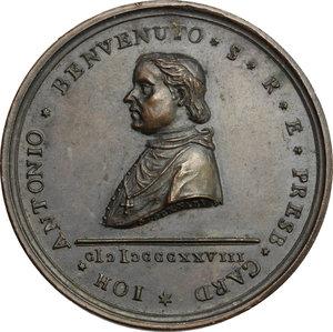 obverse: Giovanni Antonio Benvenuti (1765-1838), cardinale e vescovo anconetano.. Medaglia 1828