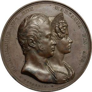 obverse: Ferdinando I d Asburgo (1835-1848),  imperatore d Austria e re d Ungheria.. Medaglia 1831 per le nozze con Marianna Pia di Savoia