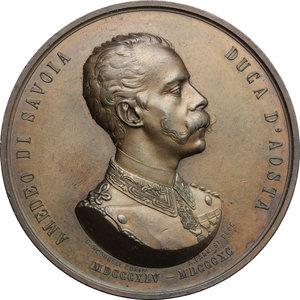 obverse: Amedeo di Savoia (1845-1890), fratello di Umberto I e re di Spagna. Medaglia per la morte
