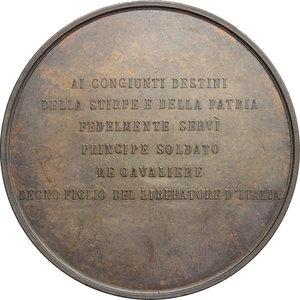 reverse: Amedeo di Savoia (1845-1890), fratello di Umberto I e re di Spagna. Medaglia per la morte