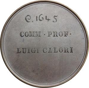 reverse: Luigi Calori (1807-1896), medico.. Medaglia Cassa di Risparmio di Bologna