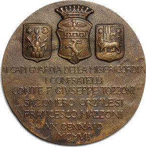 obverse: Opera Pia della Misericordia di Firenze. . Medaglia per le feste di S. Sebastiano