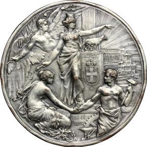 reverse: Medaglia 50° anno della Proclamazione del Regno d Italia. B. Aires 1911
