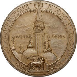 obverse: Medaglia 1912 per la riedificazione del campanile di San Marco a Venezia