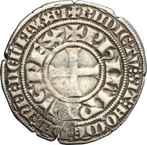 obverse: France.  Philippe IV, the Fair (1285-1314). . Gros Tournois à l O rond