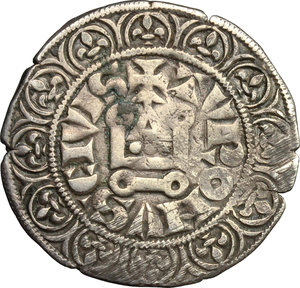 reverse: France.  Philippe IV, the Fair (1285-1314). . Gros Tournois à l O rond