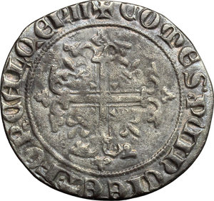 reverse: France.  Robert d Anjou (1308-1343).. Carlin