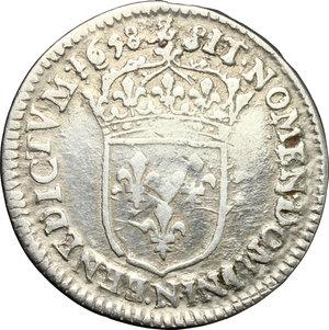 reverse: France.  Louis XIV (1643-1715). 5 sols o 1/12 d ecu, 1658 N (Montpellier)