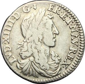 obverse: France.  Louis XIV (1643-1715). 5 sols o 1/12 d ecu, 1659 A (Paris)
