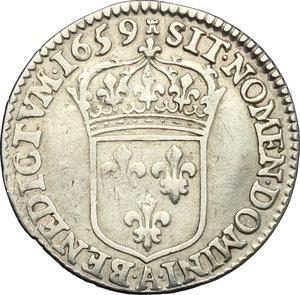 reverse: France.  Louis XIV (1643-1715). 5 sols o 1/12 d ecu, 1659 A (Paris)