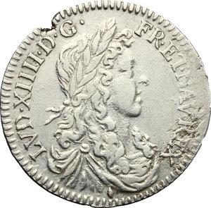 obverse: France.  Louis XIV (1643-1715). 5 sols o 1/12 d ecu, 1660 (Aix)