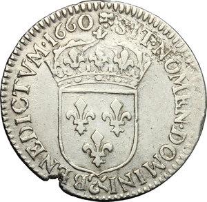 reverse: France.  Louis XIV (1643-1715). 5 sols o 1/12 d ecu, 1660 (Aix)