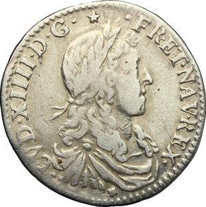 obverse: France.  Louis XIV (1643-1715). 5 sols o 1/12 d ecu, 1661 (Lyon)