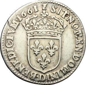 reverse: France.  Louis XIV (1643-1715). 5 sols o 1/12 d ecu, 1661 (Lyon)