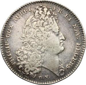 obverse: France.  Philip II duke of Orleans (1715-1723), Regent. Token