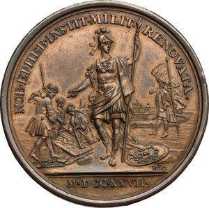 reverse: France.  Louis XV (1715-1774).. Medal 1727, re-establishment of the Cadet Forces