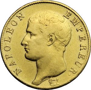 obverse: France.  Napoleone Bonaparte (1804-1814). 40 franchi AN 13 A