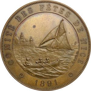 obverse: France. Commemorative medal 1891 comittè des fètes de Nice