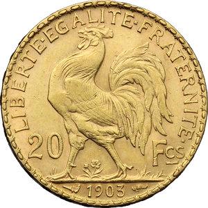 reverse: France.  Third republic (1871-1940).. 20 francs 1903