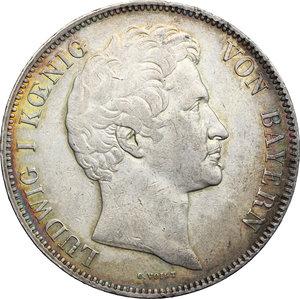 obverse: Germany, Rothenburg.  Ludwig I (1825-1848). 3 1/2 gulden or 2 thalers 1840