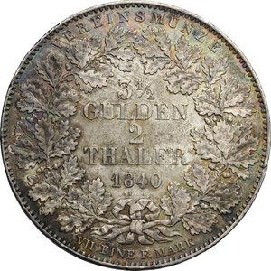reverse: Germany, Rothenburg.  Ludwig I (1825-1848). 3 1/2 gulden or 2 thalers 1840