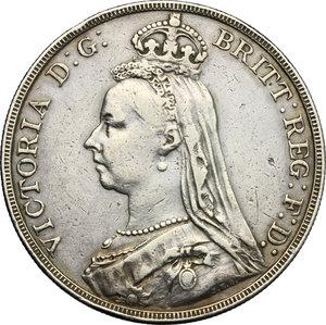 obverse: Great Britain.  Victoria (1837-1901).. Crown 1890