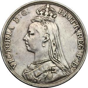 obverse: Great Britain.  Victoria (1837-1901).. Crown 1891