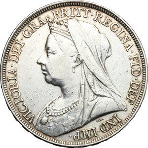 obverse: Great Britain.  Victoria (1837-1901).. Crown, 1895, LIX