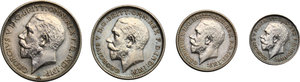 obverse: Great Britain.  George V (1910-1936).. Series of 4 values 1911: 4, 3, 2, 1 pence
