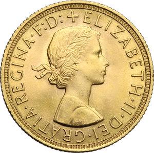 obverse: Great Britain.  Elizabeth II (1952 -). Sovereign 1959