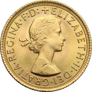 obverse: Great Britain.  Elizabeth II (1952 -). Sovereign 1965