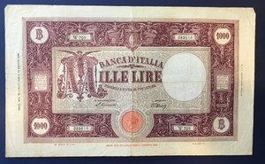 obverse: Repubblica Italiana. 1 000 lire \grande M\