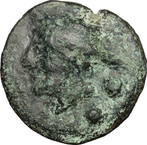 obverse: Janus/prow to right libral series.. AE Cast Sextans, c. 225-217 BC