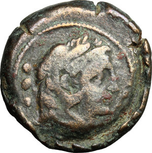 obverse: Victory and spearhead series.. AE Quadrans, 189-180 BC