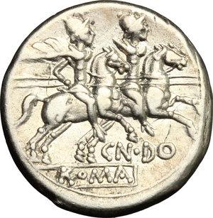 reverse: Cn. Domitius Ahenobarbus.. AR Denarius, 189-180 BC
