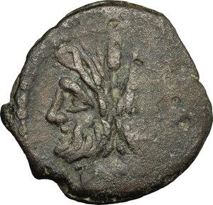 obverse: C. Papirius Turdus.. AE As, c. 169-158 BC